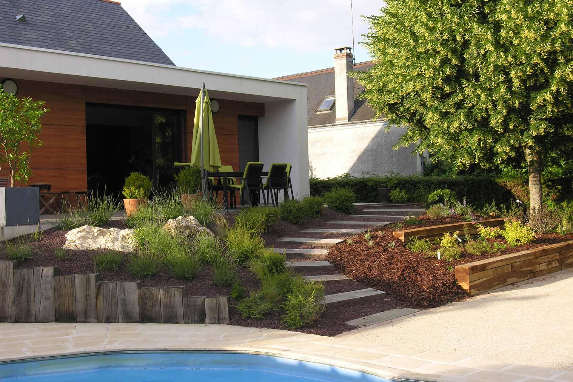 Serrault Jardins paysagiste, en Indre et Loire vous propose ses services pour l'aménagement paysager de vos extérieurs.