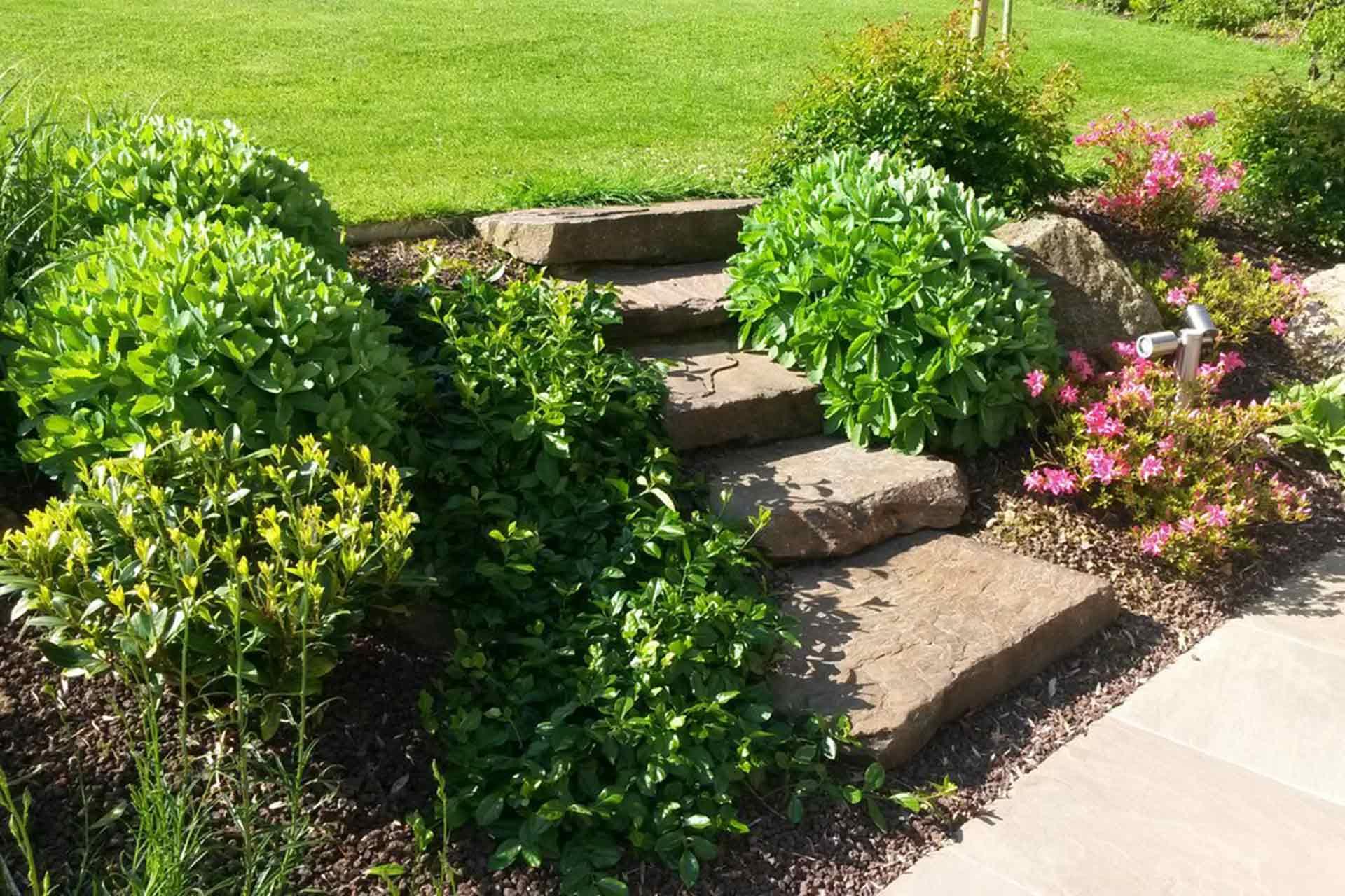 Serrault Jardins, paysagiste crée des accès, entre les différents espaces de votre jardin.