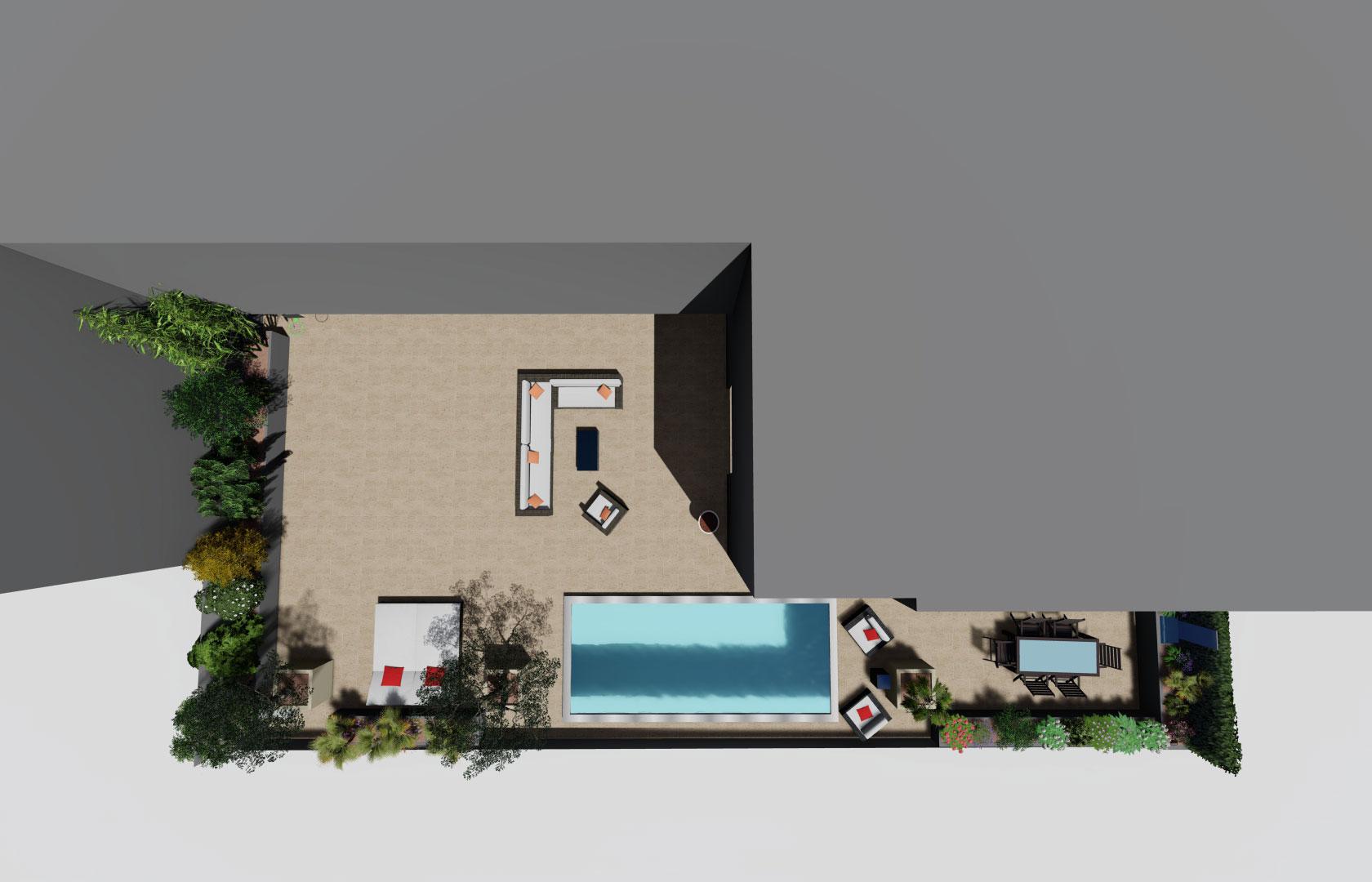 Entreprise du paysage, Serrault Jardins réalise des plan en 3D pour vous permettre de mieux vous projetter.