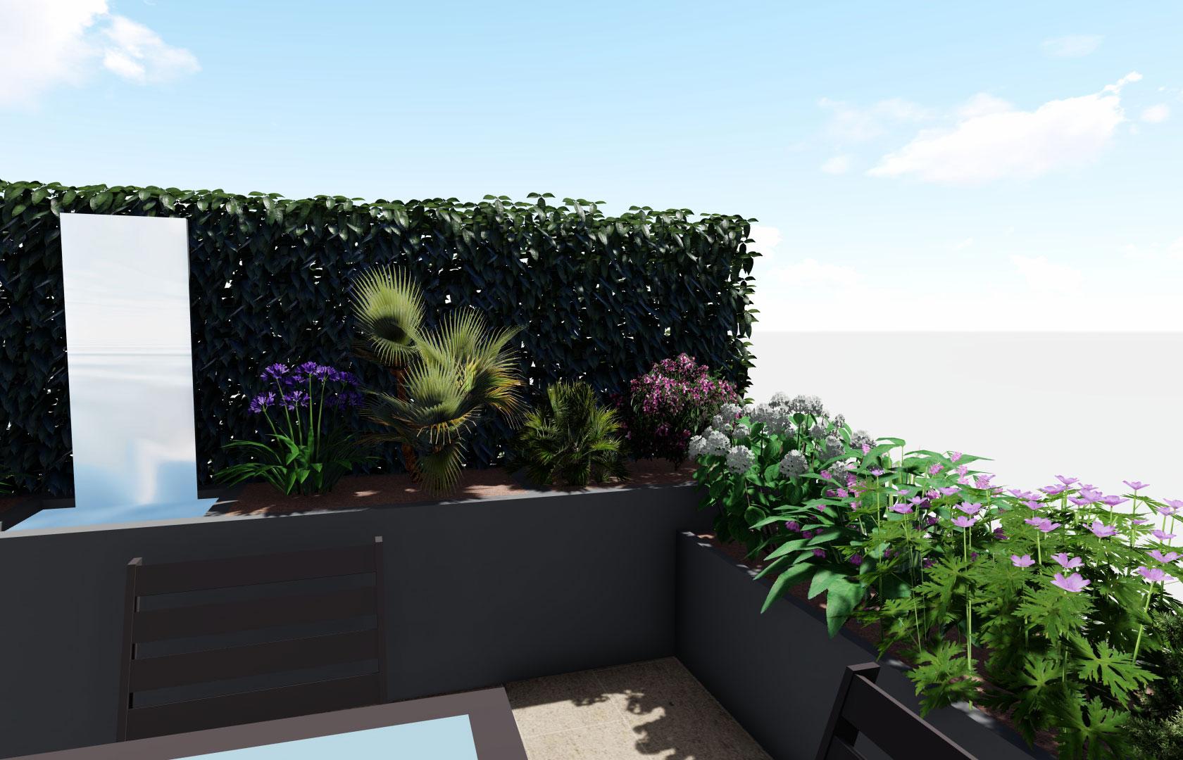 Entreprise du paysage, Serrault Jardins réalise vos panneaux en végétal.
