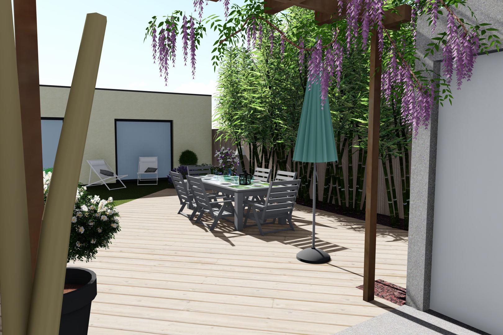 Serrault Jardins, entreprise du paysage sur La Villes aux Dames dans le 37 vous propose des terrasses..