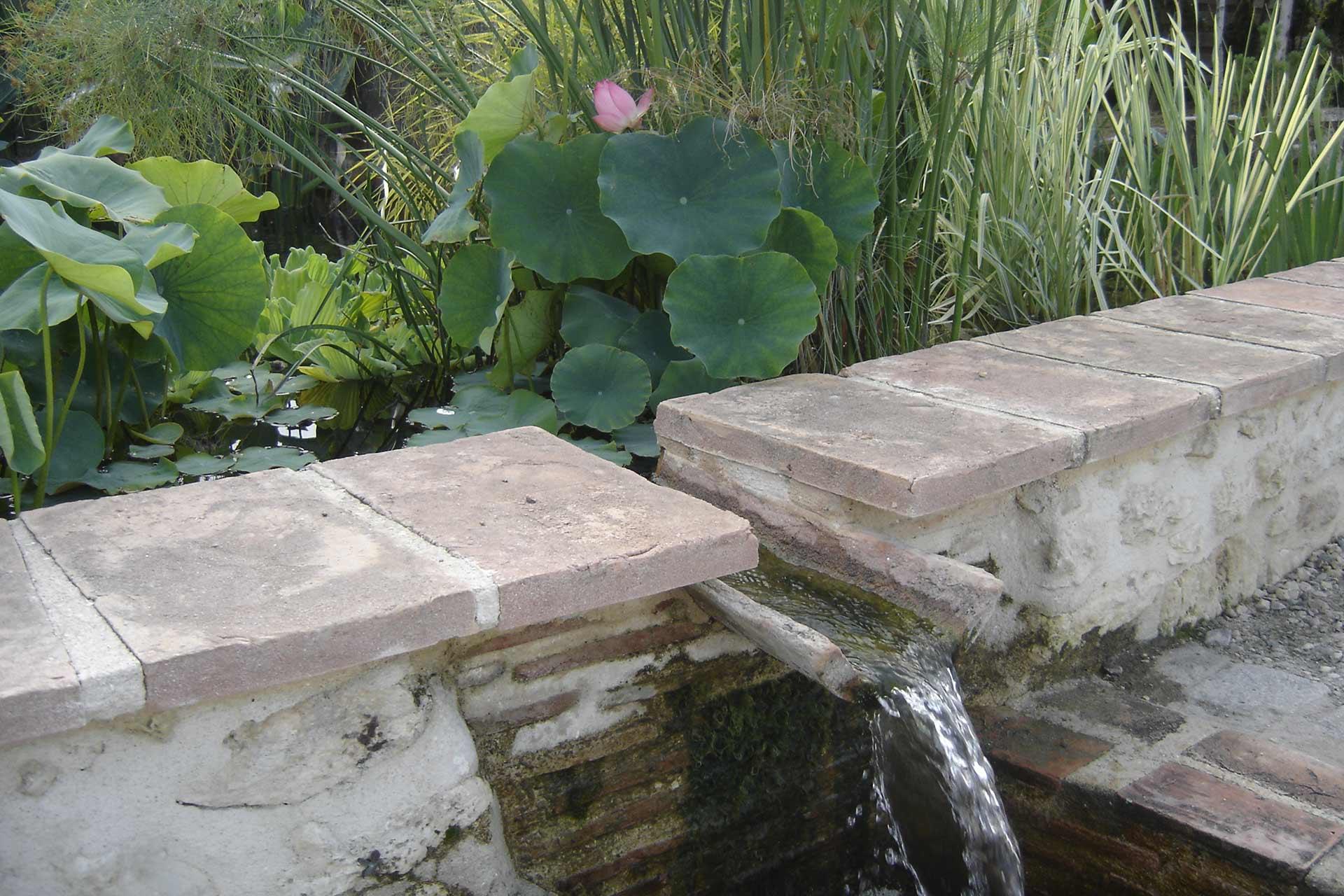 Serrault Jardins, créateur de bassins à la Ville aux Dames, Fondettes, Saint Pierre-des-Corps ou encore sur Tours.