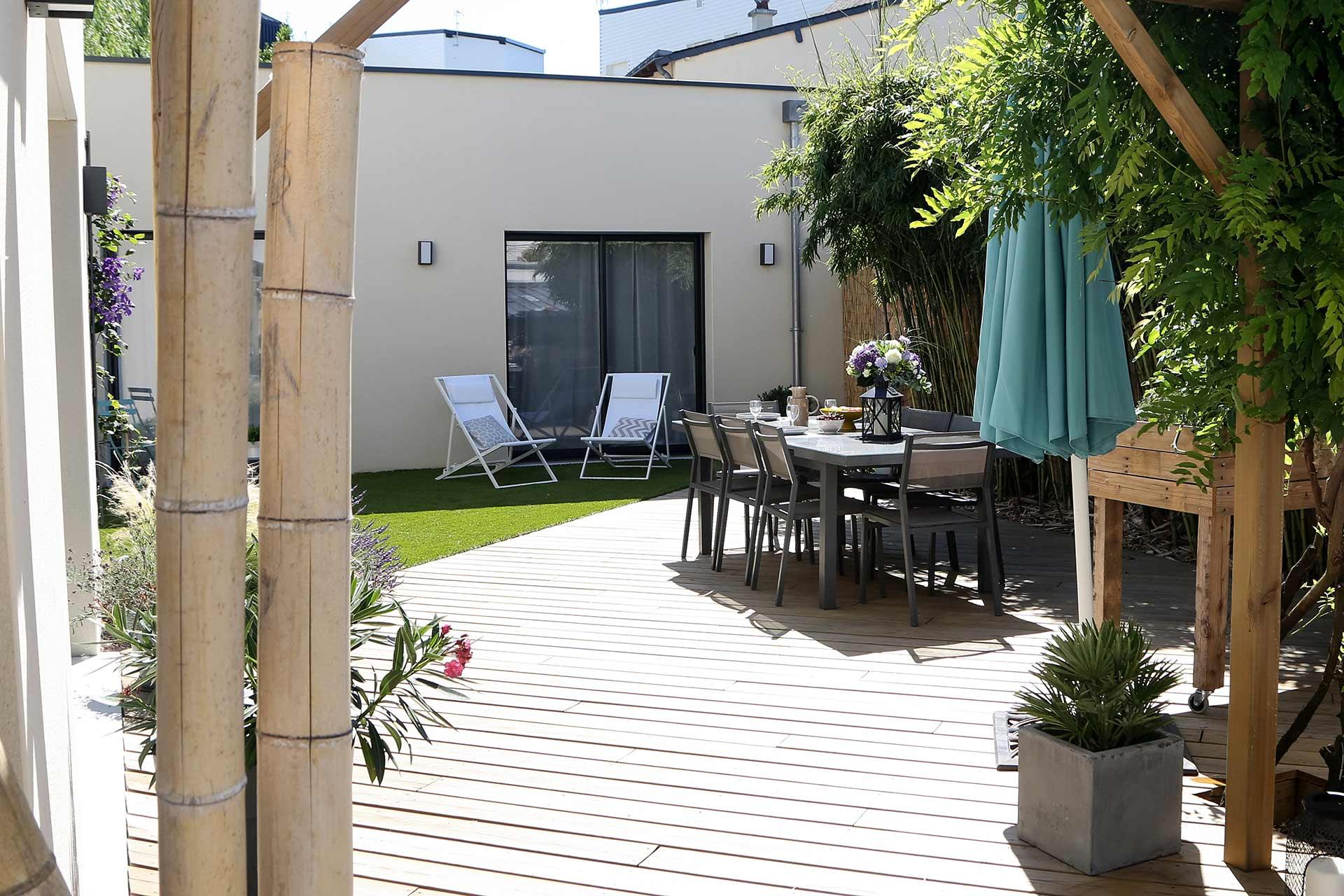 Entreprise du paysage, Serrault Jardins réalise des jardins sur-mesure dans diverses communes comme Saint-Martin-le-Beau.