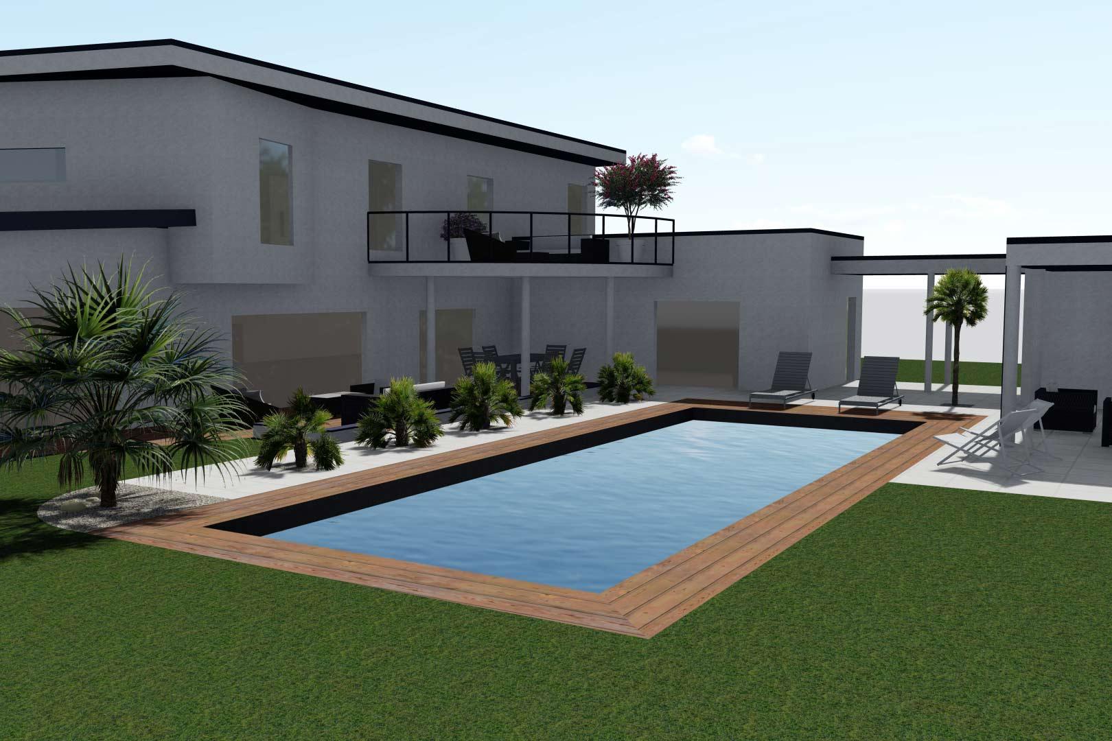 Serrault Jardins, réalise vos abords de piscine en Indre et Loire.