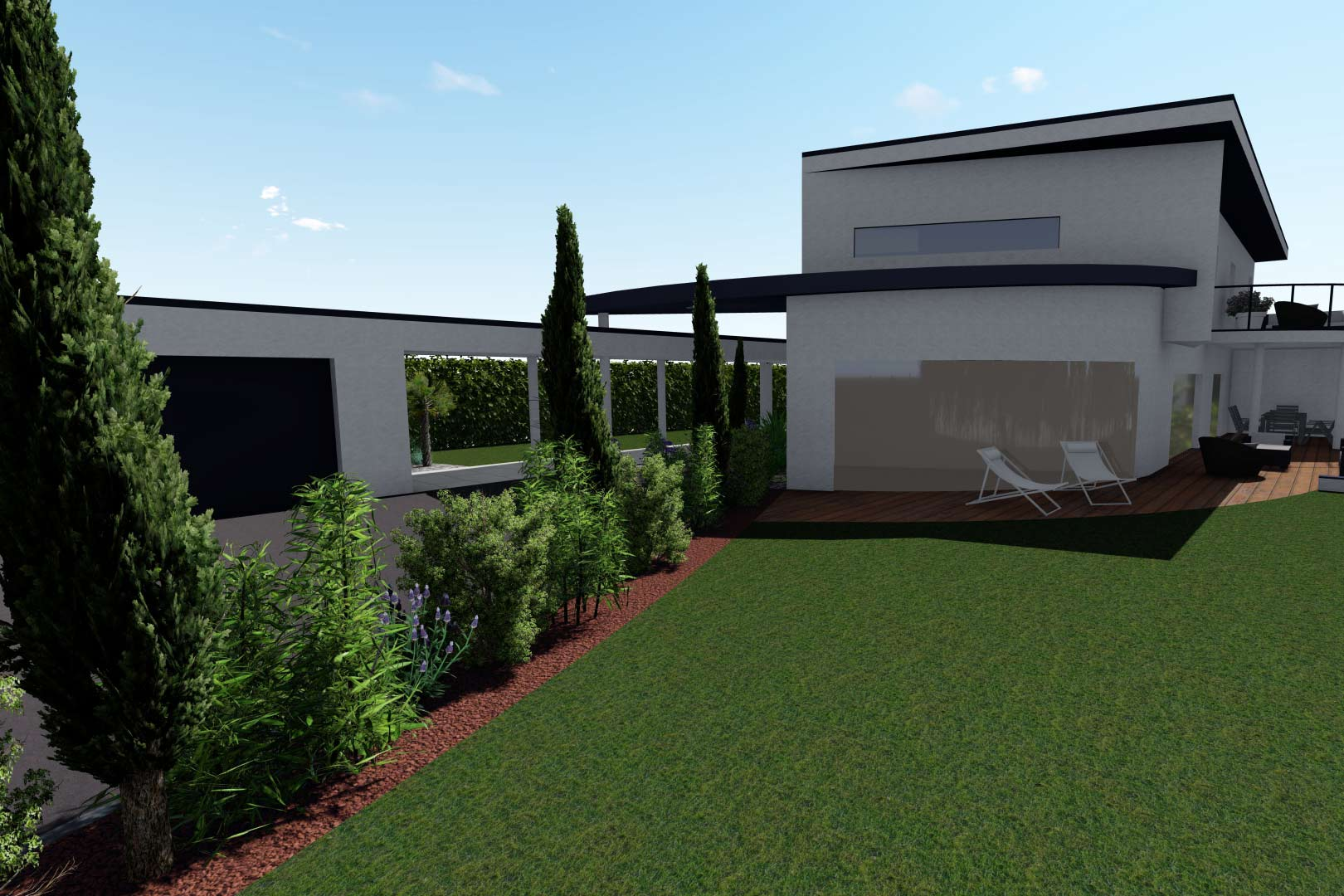 Serrault Jardins, paysagiste dans le 37 vos propose la création d'allées et d'accès.
