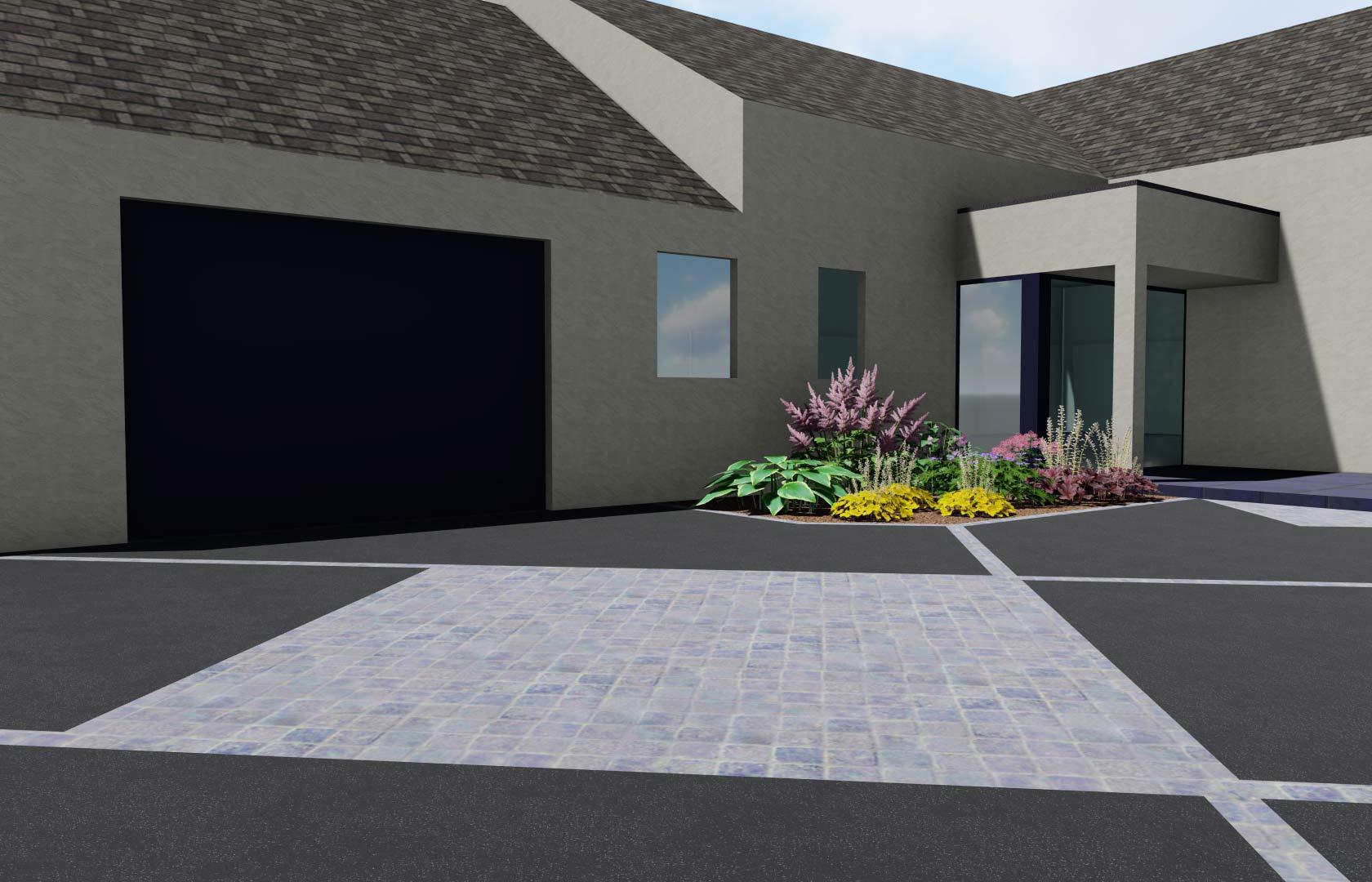 Serrault Jardins, imagine votre accès de garage en enrobé.