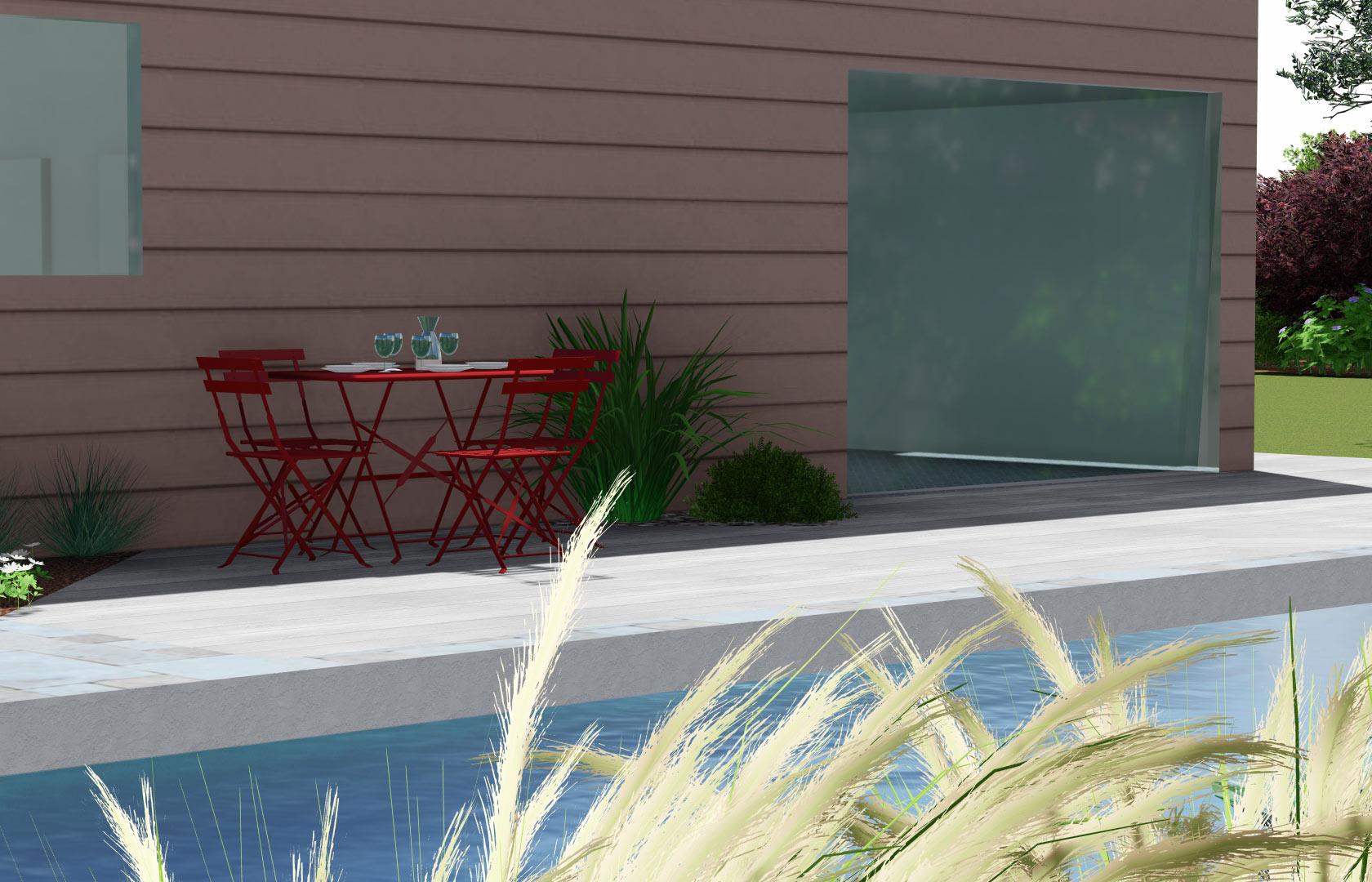 Serrault Jardins, imagine votre terrasse et abords de piscine.