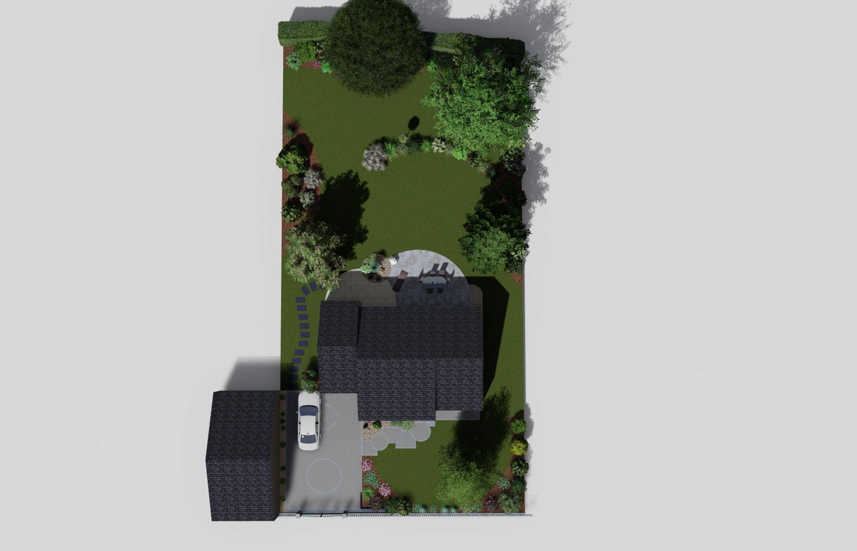Entreprise de paysage, Serrault Jardins aménage des accès en béton désactivé.