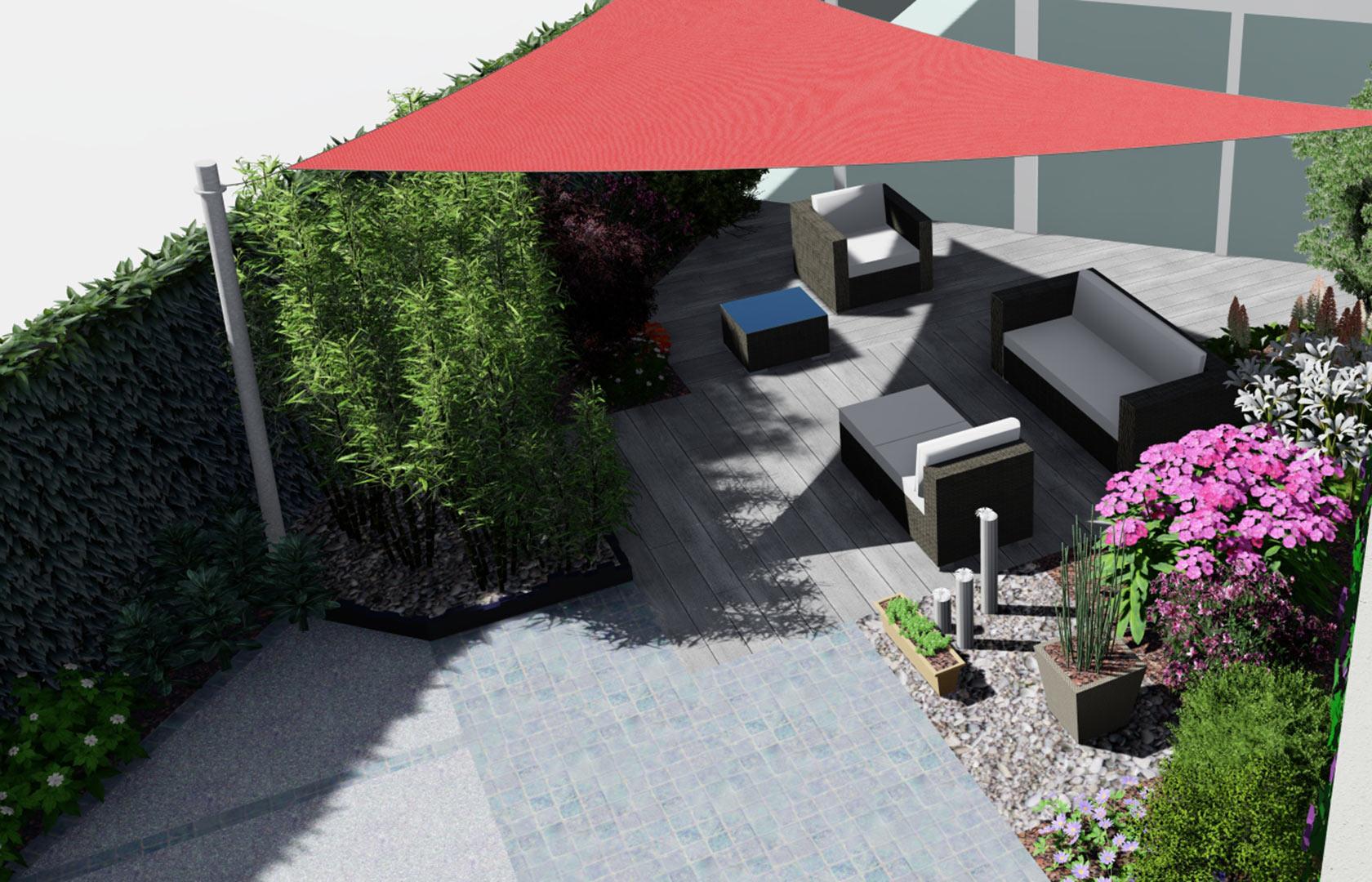 Paysagiste à la Ville aux Dames, Serrault Jardins réalise des terrasses en bois.
