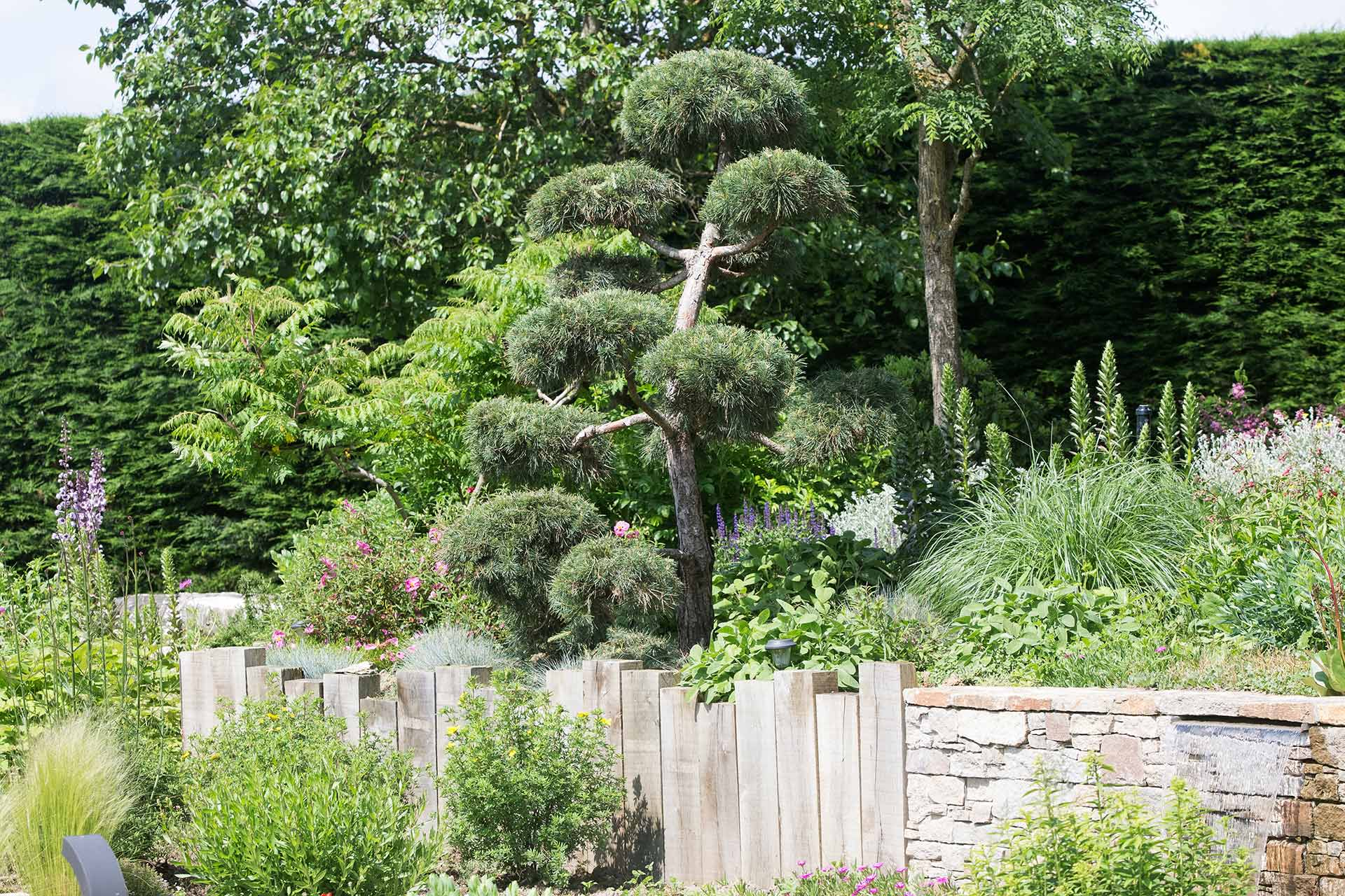 Serrault Jardins, paysagiste en Indre et Loire conçoit des massifs autour de votre bassin ou de votre bassin.